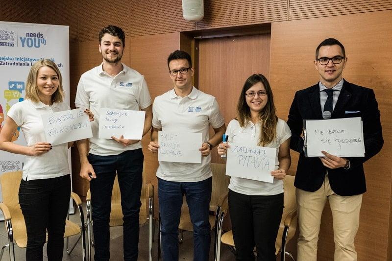 Inicjatywa Na Rzecz Zatrudniania Ludzi Młodych – Nestlé needs YOUth